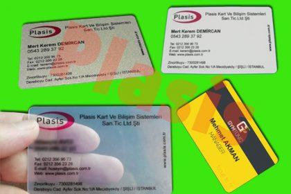 şeffaf kartvizit sert pvc plastik kartvizit