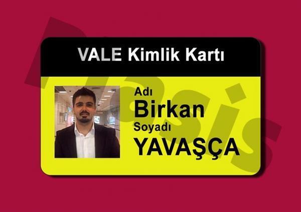 Fotoğraflı vale kimlik kartı