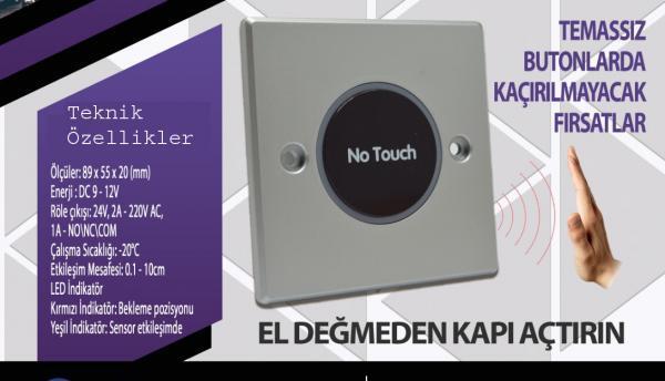 el sensörü temassız buton